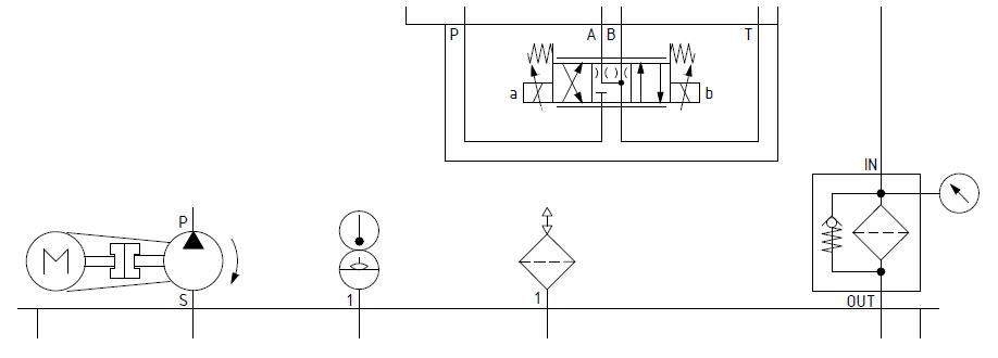 fragment schematu hydraulicznego